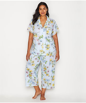 Karen Neuburger Plus Size Girlfriend Knit Cropped Pajama Set