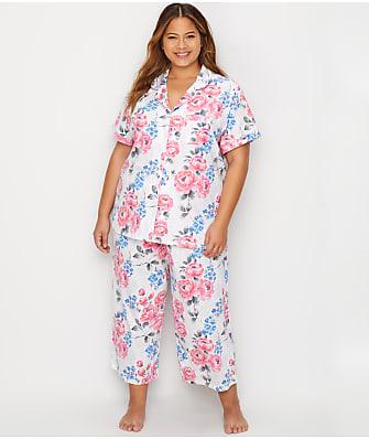 Karen Neuburger Plus Size Girlfriend Knit Capri Pajama Set