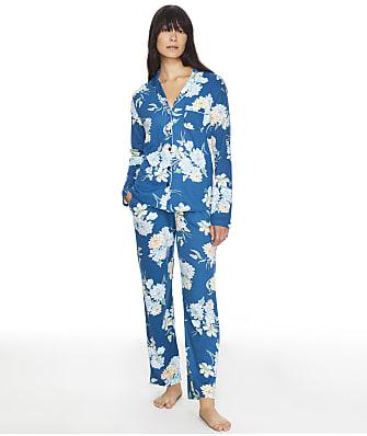 Karen Neuburger Midnight Blooms Girlfrined Knit Pajama Set