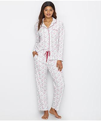Karen Neuburger Girlfriend Knit Floral Scroll Pajama Set