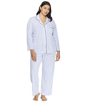 Karen Neuburger Plus Size Midnight Blooms Girlfriend Knit Pajama Set