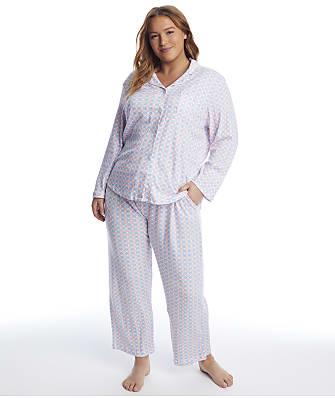 Karen Neuburger Plus Size Geometric Knit Pajama Set