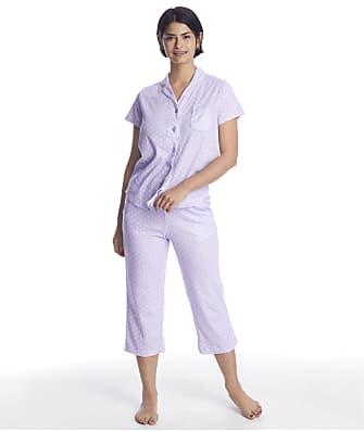 Karen Neuburger Plus Size Girlfriend Knit Cropped Pajama Set