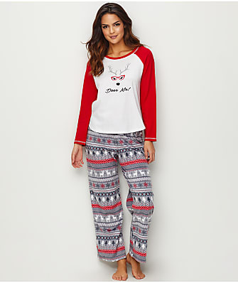 Karen Neuburger Deer Me! Fleece Pajama Set
