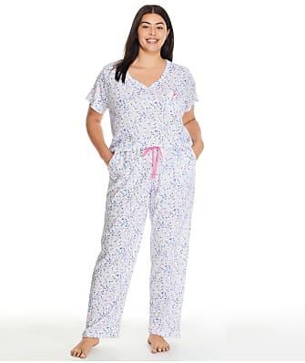 Karen Neuburger Plus Size Serene Ditsy Girlfriend Knit Pajama Set