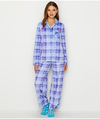 Karen Neuburger Minky Fleece Plaid Pajama & Sock Set
