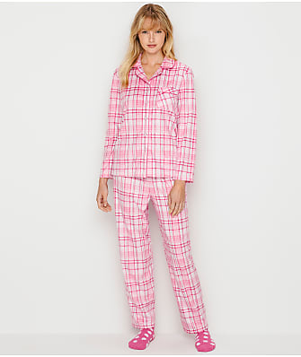 Karen Neuburger Girlfriend Fleece Plaid Pajama Set