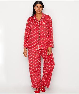 Karen Neuburger Plus Size Minky Fleece Pajama Set