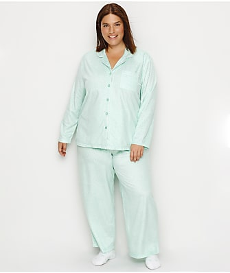 Karen Neuburger Plus Size Dot Fleece Pajama & Sock Set