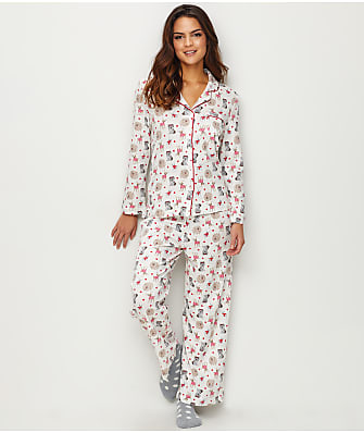 Karen Neuburger Girlfriend Knit Dog Pajama Set