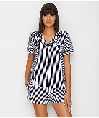 kate spade new york Stripe Woven Pajama Set
