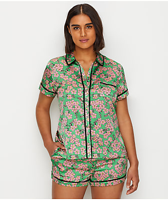 kate spade new york Charmeuse Floral Pajama Set