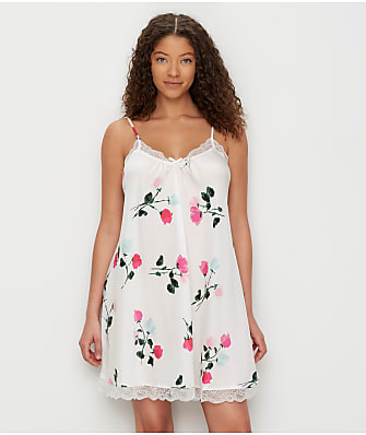 kate spade new york Watercolor Rose Charmeuse Chemise