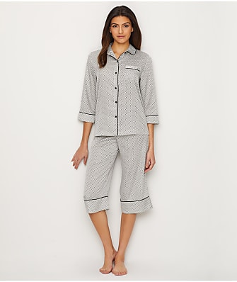 kate spade new york Charmeuse Capri Pajama Set