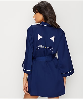 kate spade new york Charmeuse Cat Robe