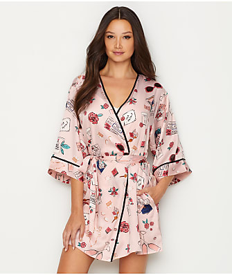 kate spade new york Charmeuse ''Just Married'' Robe