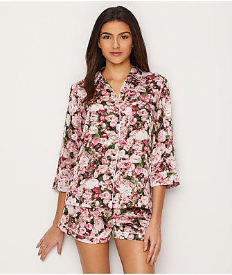 kate spade new york Satin Floral Pajama Set