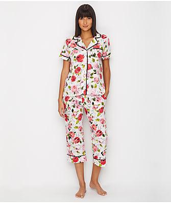 kate spade new york Floral Woven Cropped Pajama Set
