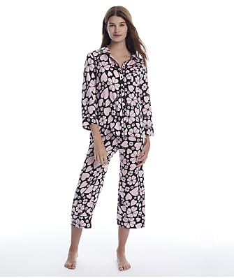 kate spade new york Clover Hearts Cropped Woven Pajama Set
