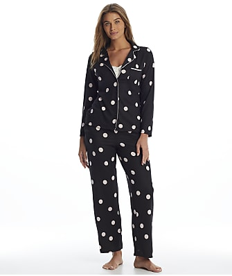 kate spade new york Black Dot Knit Pajama Set
