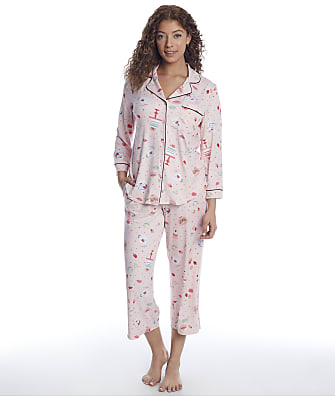kate spade new york Classic Knit Cropped Pajama Set