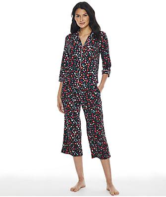 kate spade new york Secret Garden Cropped Knit Pajama Set