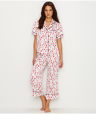 kate spade new york Charmeuse Cropped Pajama Set