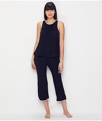 kate spade new york Satin Bow Modal Jersey Cropped Pajama Set