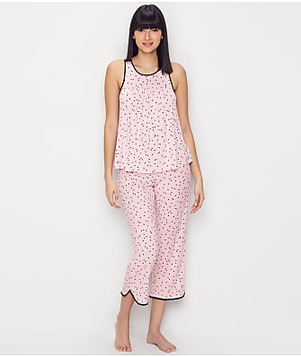 kate spade new york Polka Dot Modal Cropped Pajama Set