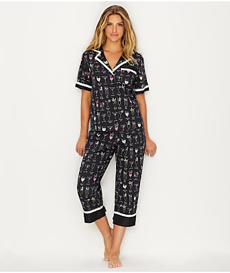 kate spade new york Sateen Woven Cocktail Pajama Set