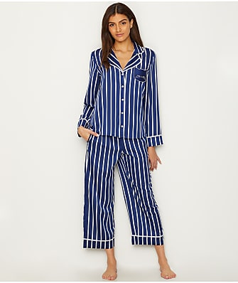 kate spade new york Cat Charmeuse Cropped Pajama Set