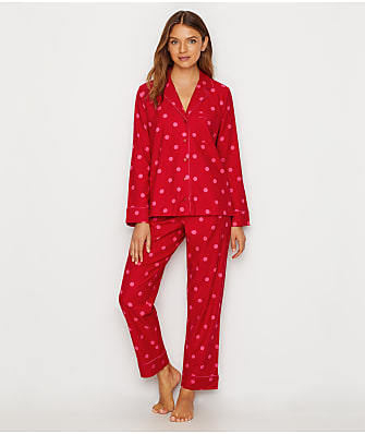 kate spade new york Brushed Twill Flannel Pajama Set
