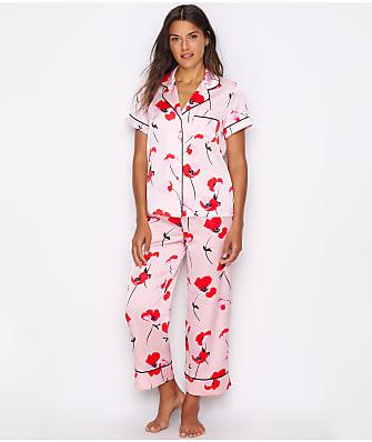 kate spade new york Poppies Charmeuse Cropped Pajama Set