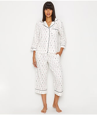 kate spade new york Printed Woven Cropped Pajama Set