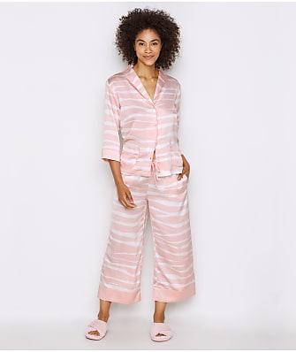 kate spade new york Zebra Charmeuse Cropped Pajama Set
