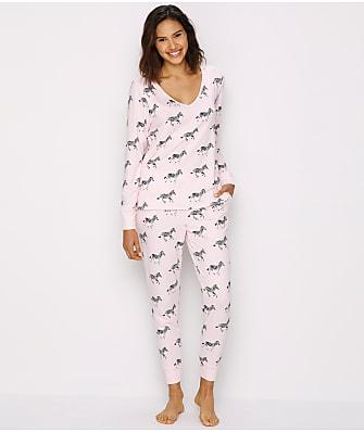 kate spade new york Brushed Jersey Knit Pajama Set