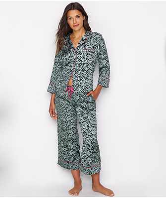 kate spade new york Leopard Charmeuse Cropped Pajama Set