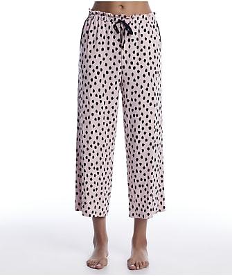 kate spade new york Pastry Spot Cropped  Knit Pajama Pants