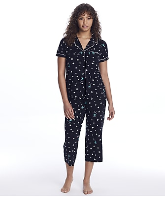 kate spade new york Floral Showers Modal Knit Cropped Pajama Set