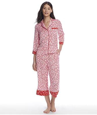 kate spade new york Pansy Cropped Charmeuse Pajama Set