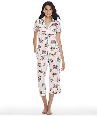 kate spade new york Printed Knit Cropped Pajama Set