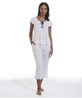 kate spade new york Rainbow Dot Modal Knit Cropped Pajama Set