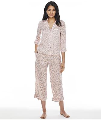 kate spade new york Rosey Leopard Cropped Satin Pajama Set