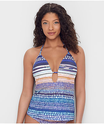 Kenneth Cole Closer Together Push-Up Tankini Top