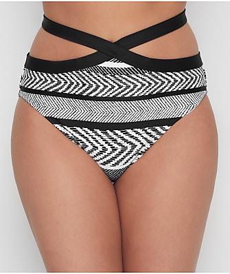 Kenneth Cole Suit & Tie High-Waist Bikini Bottom