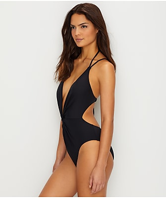 Kenneth Cole Sexy Solid Wire-Free Twist Monokini