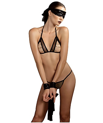 Leg Avenue KINK Chain Wire-Free Bra Set