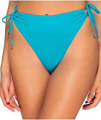 B Swim Lagoon Mykonos High-Waist Side-Tie Bikini Bottom