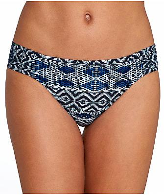 La Blanca Designer Jeans Shirred Hipster Bikini Bottom