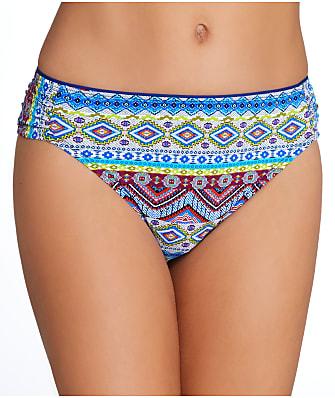 La Blanca Tapmastery Shirred Bikini Bottom